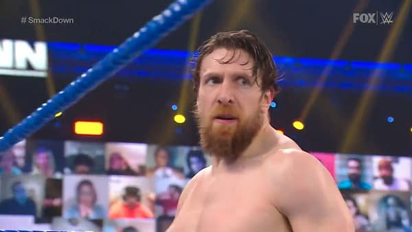Daniel Bryan wrestles Jey Uso on WWE Smackdown last week.