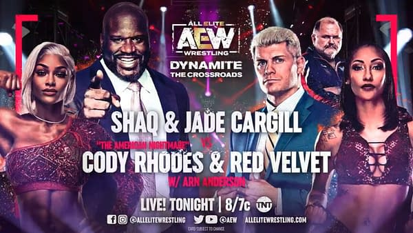 Shaq teams with Jade Cargill to face Cody Rhodes and Red Velvet at AEW Dynamite: The Crossroads