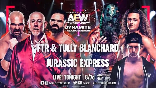 Tully Blanchard will return to the ring to team with FTR against Jurassic Express on AEW Dynamite: The Crossroads tonight.