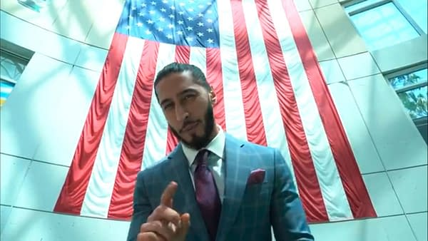 Mustafa Ali cuts a Twitter promo on Riddle ahead of their United States Championship match on WWE Raw.