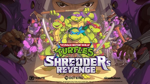 Guys, we gotta stop the Shredder after he destroyed our favorite pizza place! Courtesy of Dotemu.