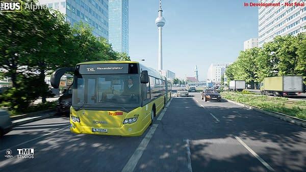Ah, yes, driving around Berlin! Courtesy of Aerosoft.