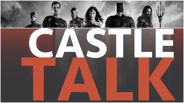 Justice League poster and Castle Talk logo used by permission.