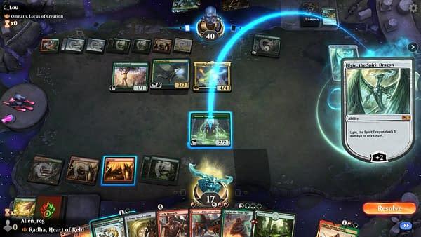 A screenshot of Magic Arena, Magic: The Gathering's hub for online gameplay. Screenshot attributed to r/MagicArena on Reddit.
