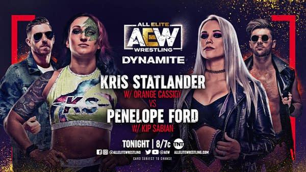 Kris Statlander will face Penelope Ford on AEW Dynamite tonight.