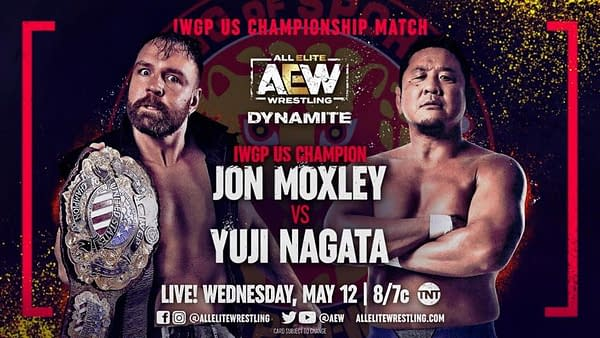 Jon Moxley will defend the IWGP United States Championship against Yuji Nagata on AEW Dynamite in two weeks in a massive crossover between AEW and NJPW