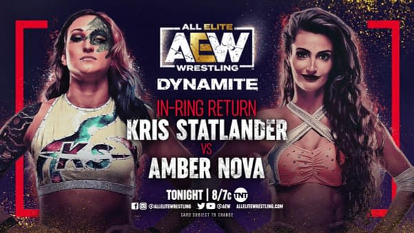 Kris Statlander will return to the ring this week on AEW Dynamite to face Amber Nova.