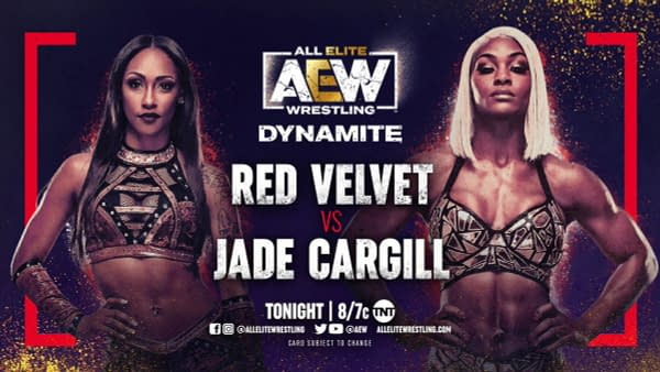 On AEW Dynamite tonight, Red Velvet will face Jade Cargill one on one.