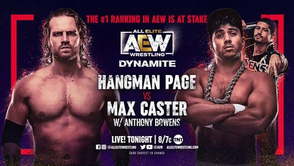 Hangman Page will take on Matt Caster on tonight's episode of AEW Dynamite.
