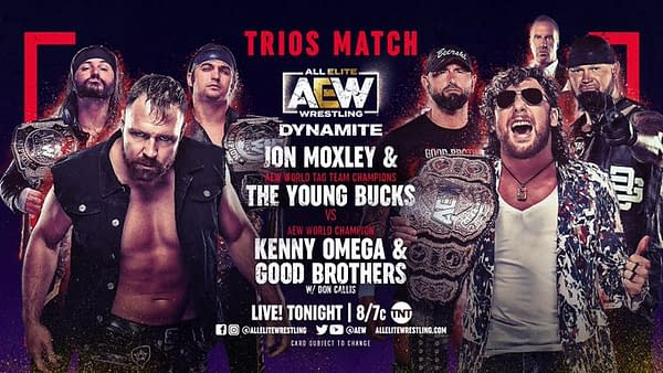 Jon Moxley will team up with The Young Bucks to take on Kenny Omega and the Good Brothers on AEW Dynamite tonight... but can Moxley trust Kenny Omega's former best friends?!