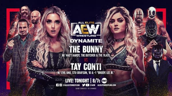 The Bunny will face Tay Conti on tonight's episode of AEW Dynamite with half the roster at ringside.