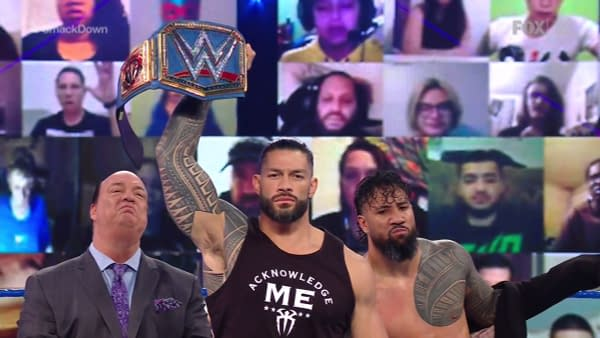 SmackdownRoman Reigns is happy to have the night off on the WrestleMania pre-show edition of WWE Smackdown.