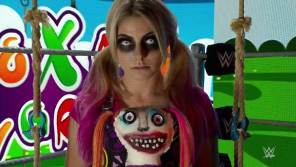 The messed up part is, before she started watching WWE Raw two hours ago, Alexa's eyes were totally normal.