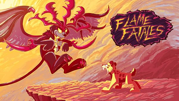 Promo art for Flame Fatales 2021, courtesy of Games Done Quick.