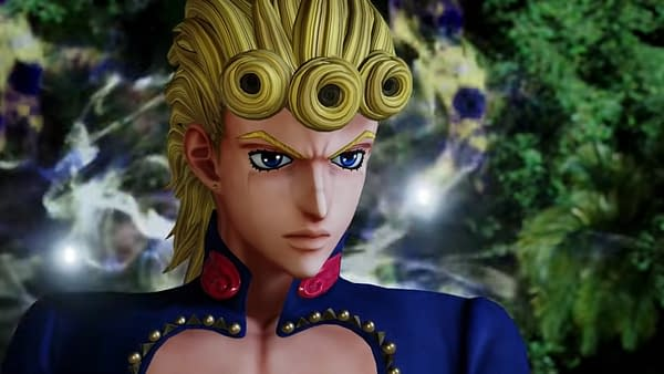 A good look at Giorno Giovanna as he appears in Jump Force, courtesy of Bandai Namco.