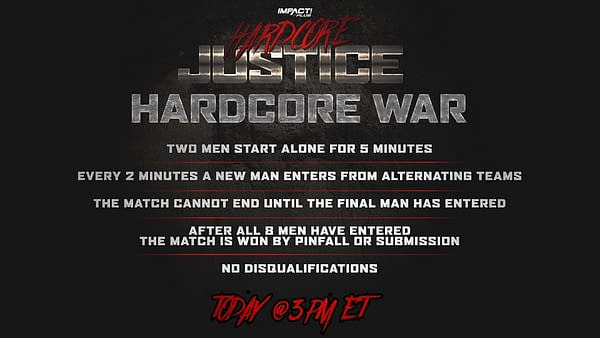 What is a Hardcore War, you ask? Here's the rules in this handy graphic.