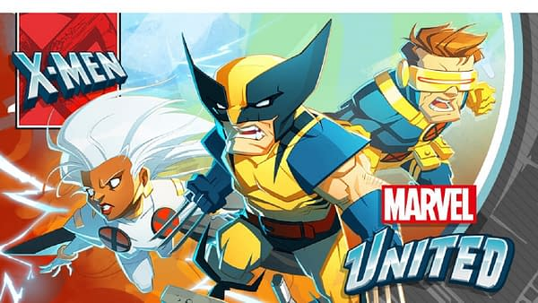 Promotional key art for Marvel United: X-Men, an incoming tabletop game by CMON, being crowdfunded over Kickstarter now!