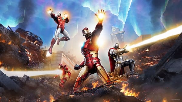 Play as four different versions of Iron Man at once in Marvel's Avengers, courtesy of Square Enix.