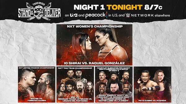 NXT Takeover: Stand & Deliver Recap - Night One