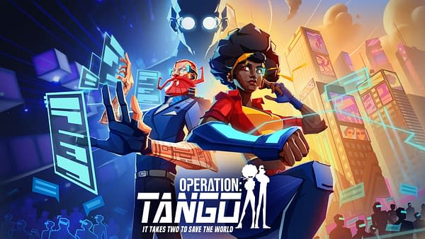 Promotional key art for Clever Plays' asymmetrical co-op spy game, Operation: Tango.