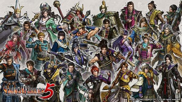 A look at the massive cast for Samurai Warriors 5, courtesy of Koei Tecmo.