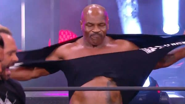 Mike Tyson dons the proper attire for AEW Dynamite