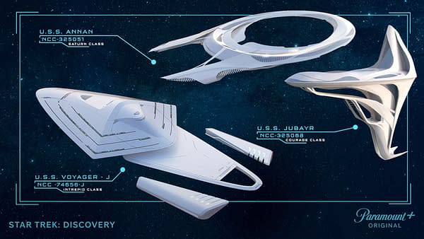 Star Trek: Discovery – Paramount+ Unveils Conceptual Art of New Ships