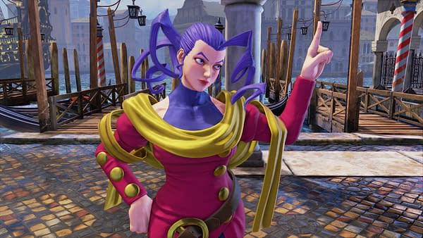No, I'm not Lisa Lisa from JoJo's Bizarre Adventure, I'm just inspired by her. Courtesy of Capcom.