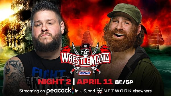 Match Graphic for Sami Zayn vs. Kevin Owens at WrestleMania 37 Night 2
