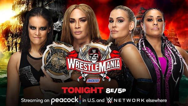 Match Graphic for Shayna Baszler and Nia Jax vs. Natalya and Tamina for the Women's Tag Team Championship at WrestleMania 37 Night 2