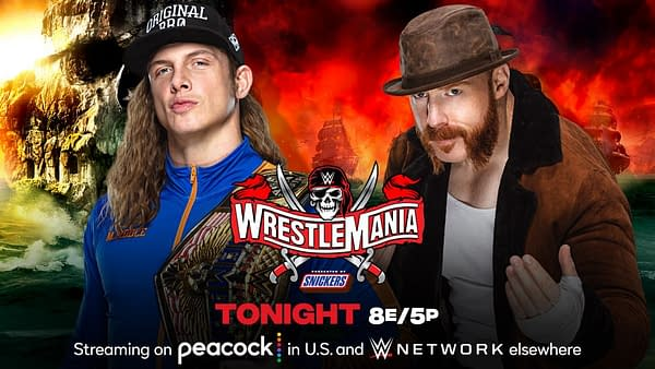Match Graphic for Riddle vs. Sheamus for the United States Championship at WrestleMania 37 Night 2