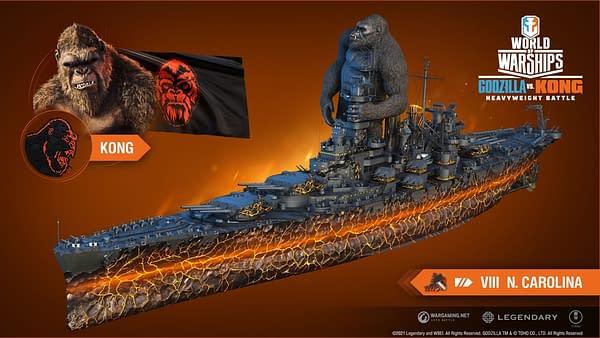 A look at the Kong ship, courtesy of Wargaming.