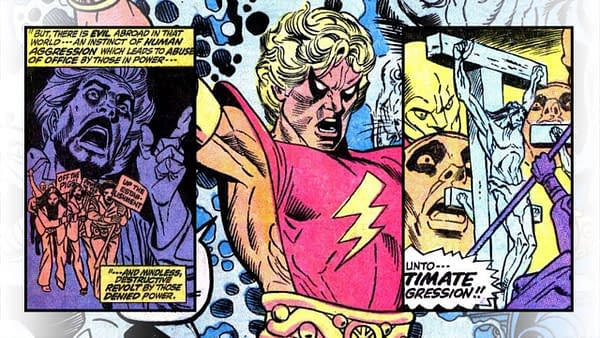 Marvel Premiere 1 featuring Adam Warlock, misc interior panel artwork, story by Roy Thomas, art by Gil Kane, Marvel Comics 1972.