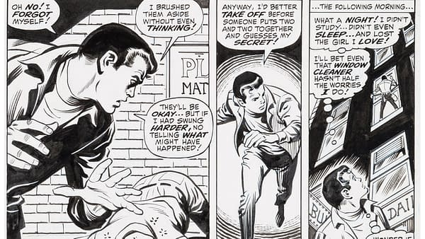 John Buscema and Jim Mooney Amazing Spider-Man #78 Story Page 10 Prowler Original Art (Marvel, 1969).