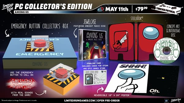 A look at the Among Us Collector's Edition, courtesy of Limited Run Games.