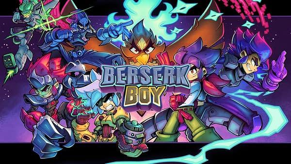 The key art for Berserk Boy, an indie game by developer BerserkBoy Games and publisher Big Sugar.