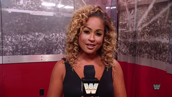 The highlight of WWE Smackdown this week was Kayla Braxton's throwback look.