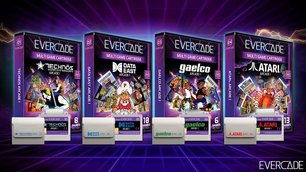 A look at all four of the arcade collections coming out this November, courtesy of Evercade.