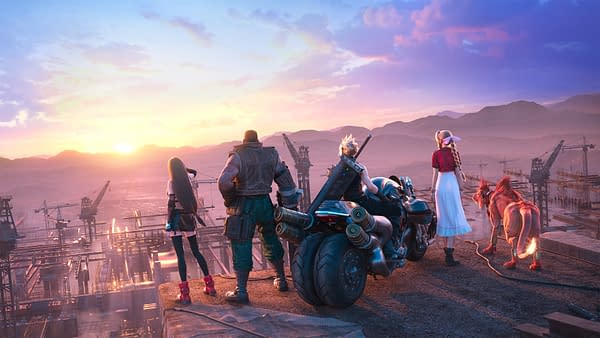 That's one amazing digital sunset you guys are checking out. Courtesy of Square Enix.