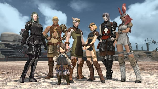 What an unruly group of misfits roaming around a desert. Courtesy of Square Enix.