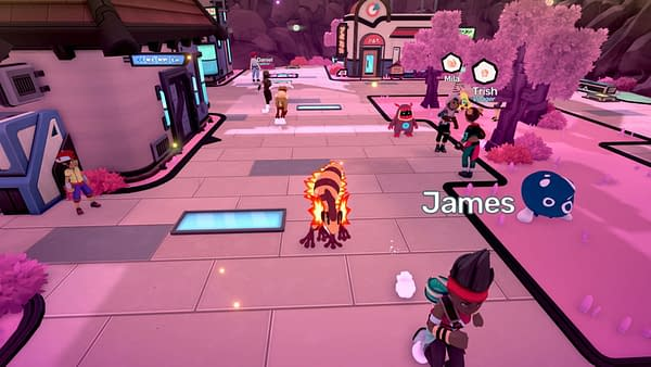 Another screenshot from Crema and Humble Games of their monster-collecting game, Temtem.