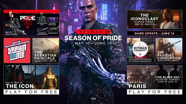 A look at the Season Of Pride Roadmap, courtesy of IO Interactive.