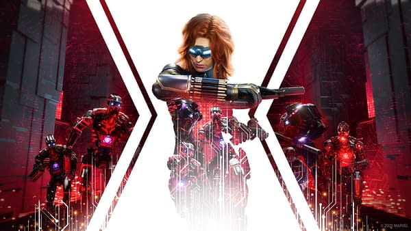 Promo art for the Red Room Takeover in Marvel's Avengers, courtesy of Square Enix.