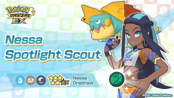 Nessa & Drednaw in Pokémon Masters EX. Credit: DeNA