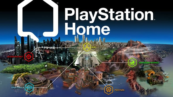A look at the layout of PlayStation Home, courtesy of Sony Interactive Entertainment.