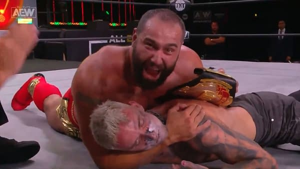 Miro cradles a crushed and defeated Darby Allin after winning the TNT Championship on AEW Dynamite in a match that proves Tony Khan doesn't understand anything about the wrestling business.
