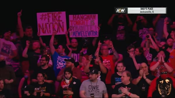 Finally, The Crowd has returned to AEW Dynamite