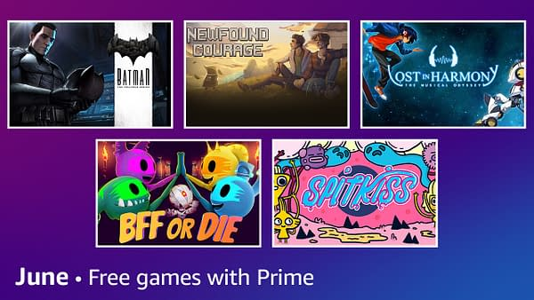 June 2021's free games list with Prime Gaming, courtesy of Amazon.