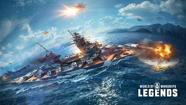 A look at the French Battleship Champagne in World Of Warships: Legends, courtesy of Wargaming.