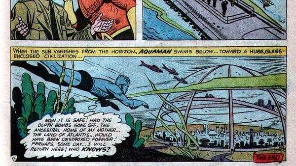 Adventure Comics #260 interior page featuring Aquaman, script by Robert Bernstein, art by Ramona Fradon, DC Comics 1959.